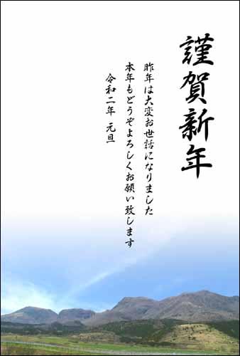 年賀状テンプレート 新春花色年賀状shot4