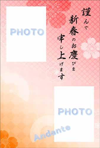 年賀状フォトフレーム Andante shot3